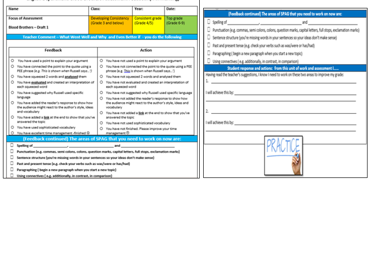Ready to use  FAR Assessment Sheets Bundle -KS3 and KS4