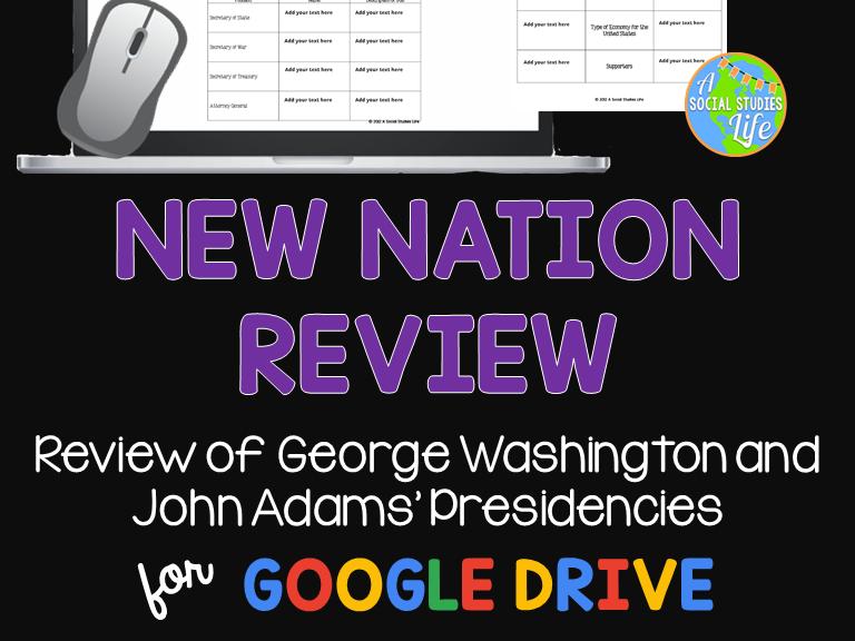George Washington and John Adams Review Packet