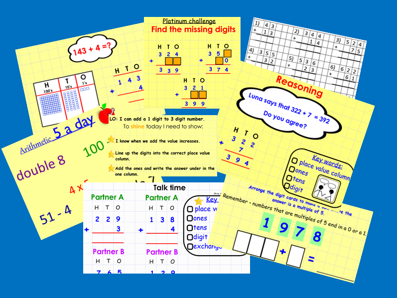KS2 Column Addition (with & without exchanging)