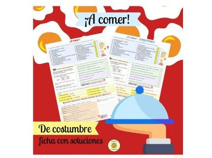 ¡A comer! El restaurante. De costumbre. Viva GCSE. Spanish. At the restaurant+superlatives. Answers