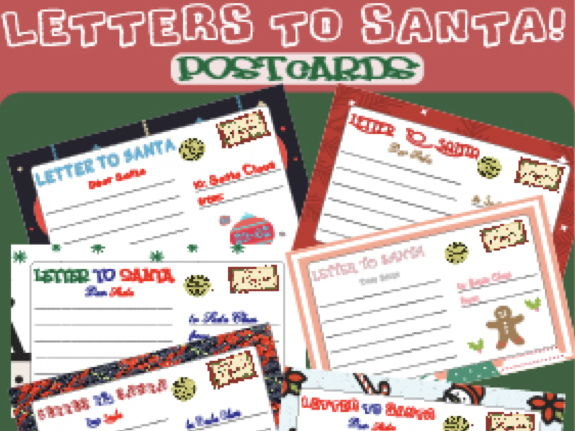 CHRISTMAS POSTCARD - Santa´s Letter