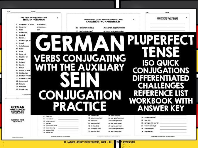 GERMAN VERBS SEIN PLUPERFECT TENSE