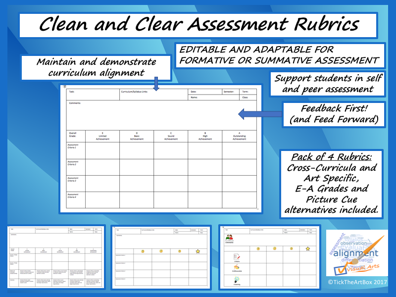 Clean and Clear Assessment Rubrics