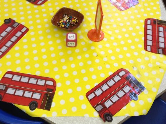 London Bus Maths Counting and Adding Reception / Kindergarten
