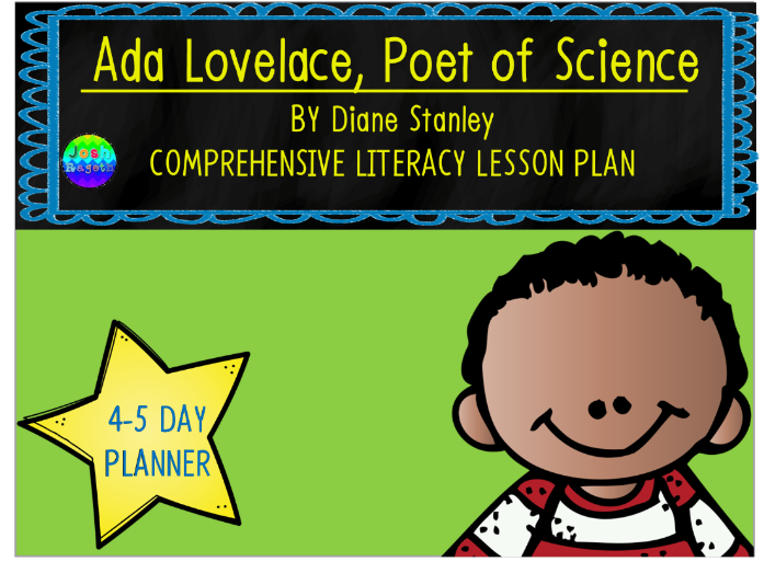 Ada Lovelace Poet of Science by Diane Stanley 4-5 Day Lesson Plan and Activities