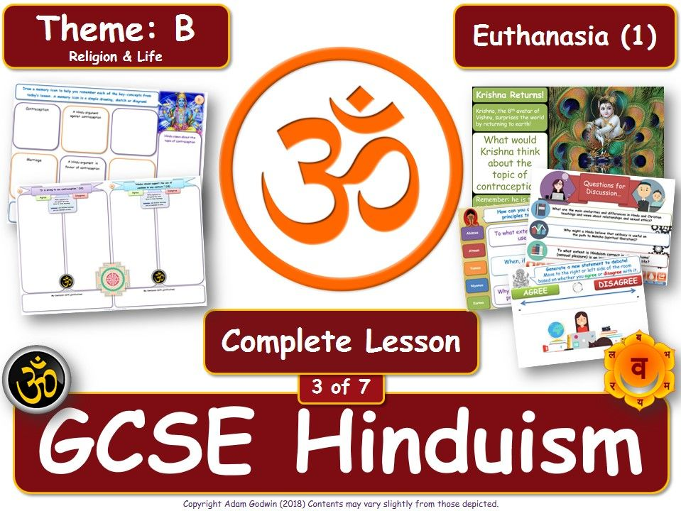 Euthanasia - Hindu Views (GCSE RS - Hinduism - Religion & Life ) Theme B - L3/7