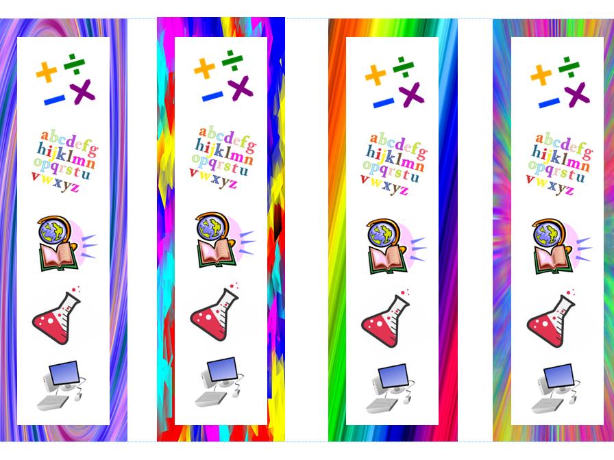 Multicoloured Bookmarks