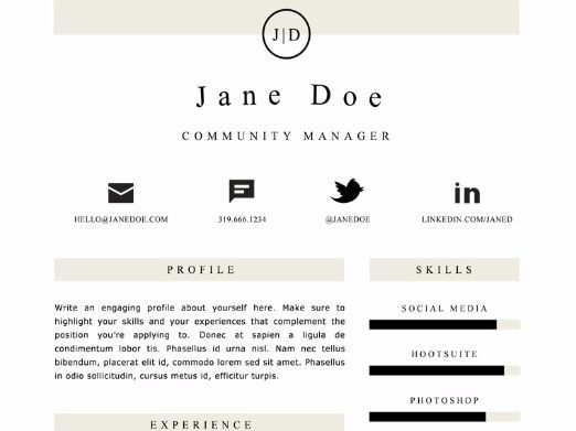 Clean Resume Template - 2 Pages