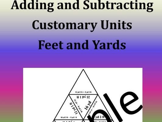 Adding and Subtracting Customary Units: Feet and Yards - Math Puzzle