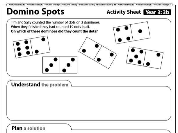 Year 3 Problem Solving: 4 operations (5 Sheets) with Answers. Home Learning