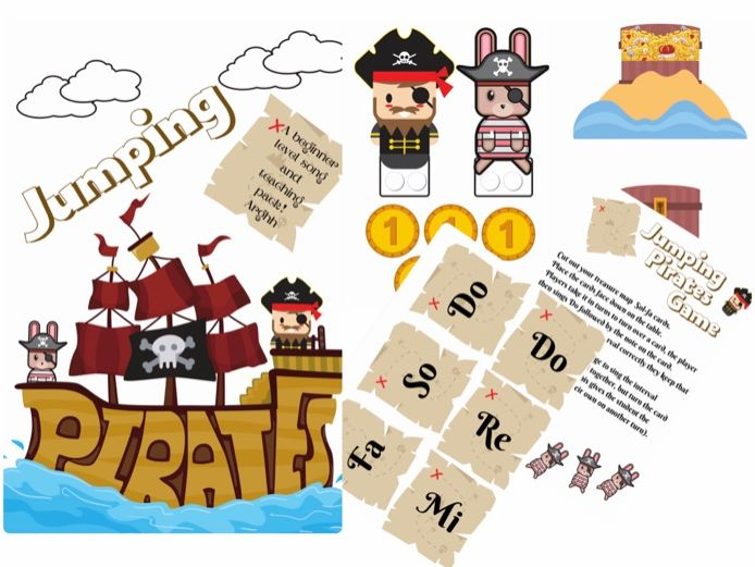 Jumping Pirates Song Pack a beginner level song with interval singing and sol-fa cards Do-So