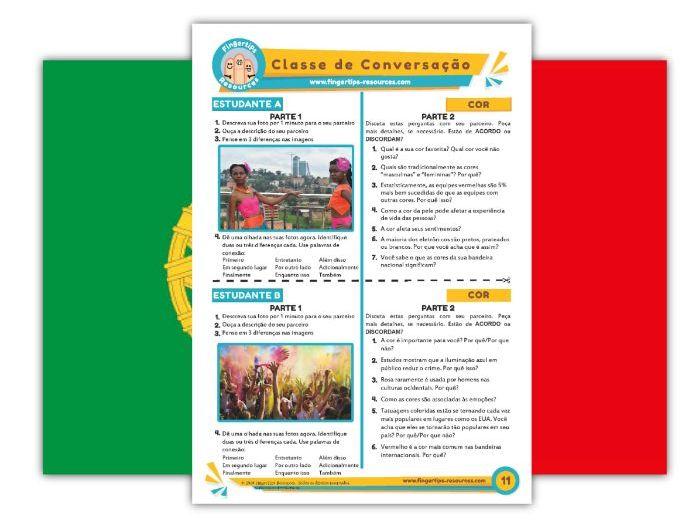 Cor - Portuguese Speaking Activity