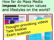 *FULL LESSON* Do Mass Media Impose American Values and Life-Styles on the World? A-Level Sociology