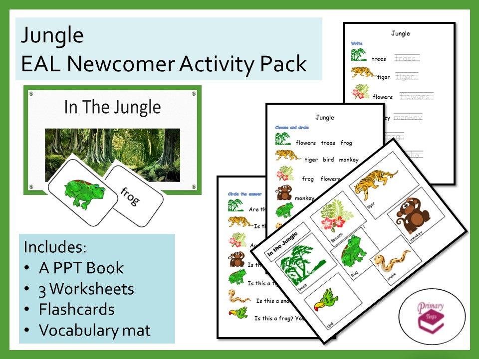 In the Jungle EAL Newcomer Activity Pack