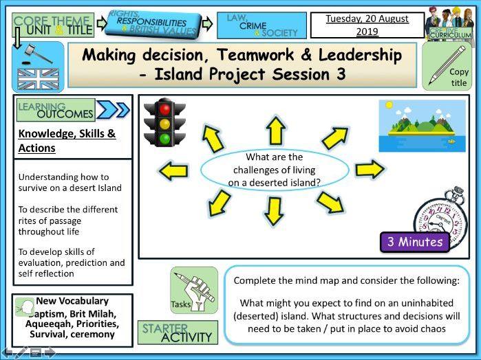 Making decisions - Desert Island