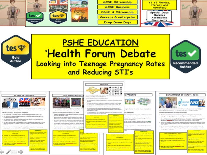 PSHE: Sexual Health Forum - Teenage Pregnancy rates : SRE Sexual Health Campaign 2017