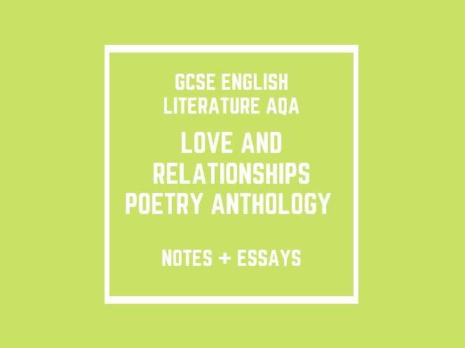 GCSE English Literature AQA: Poetry Anthology (notes + essays)