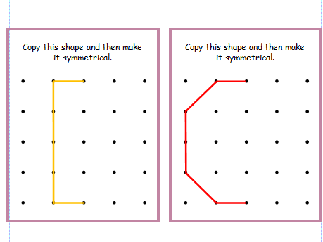 Geoboard and Mirror Cards - 2D Shapes