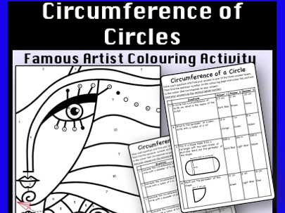 Circumference of a Circle - Colour by Number Activity