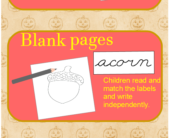 Cursive Writing - October Words Booklet