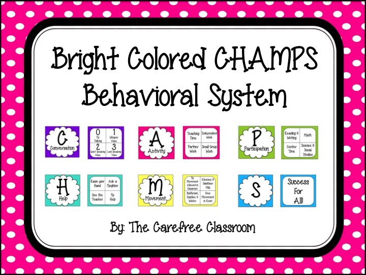 Champs Chart: Brightly Colored