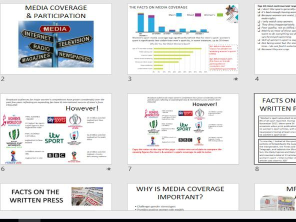 OCR GCSE PE - HOW MEDIA COVERAGE, COST & TIME AFFECT PARTICIPATION IN SPORT