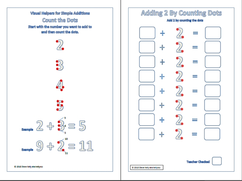 Visual Helpers for Simple Addition and Subtraction - Count the Dots