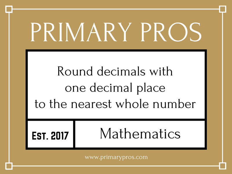 Round decimals with 1 decimal place to the nearest whole number