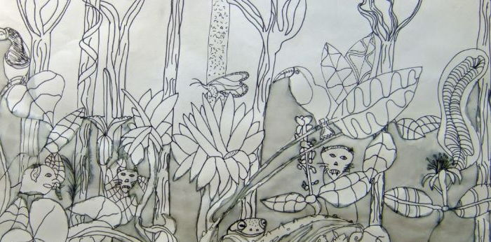 Henri Rousseau's Jungles Drawing Project