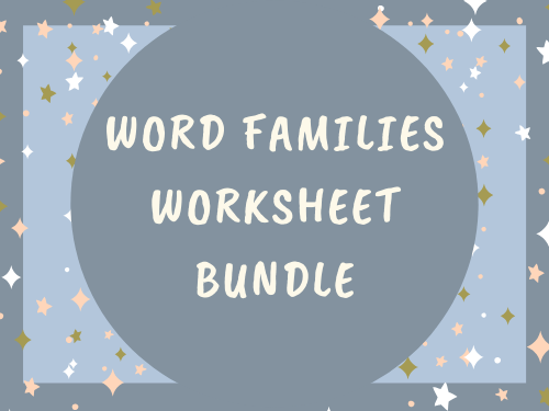 Word Families_Worksheet Bundle