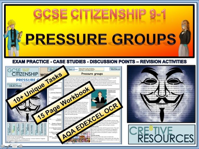 Pressure Groups Work Booklet