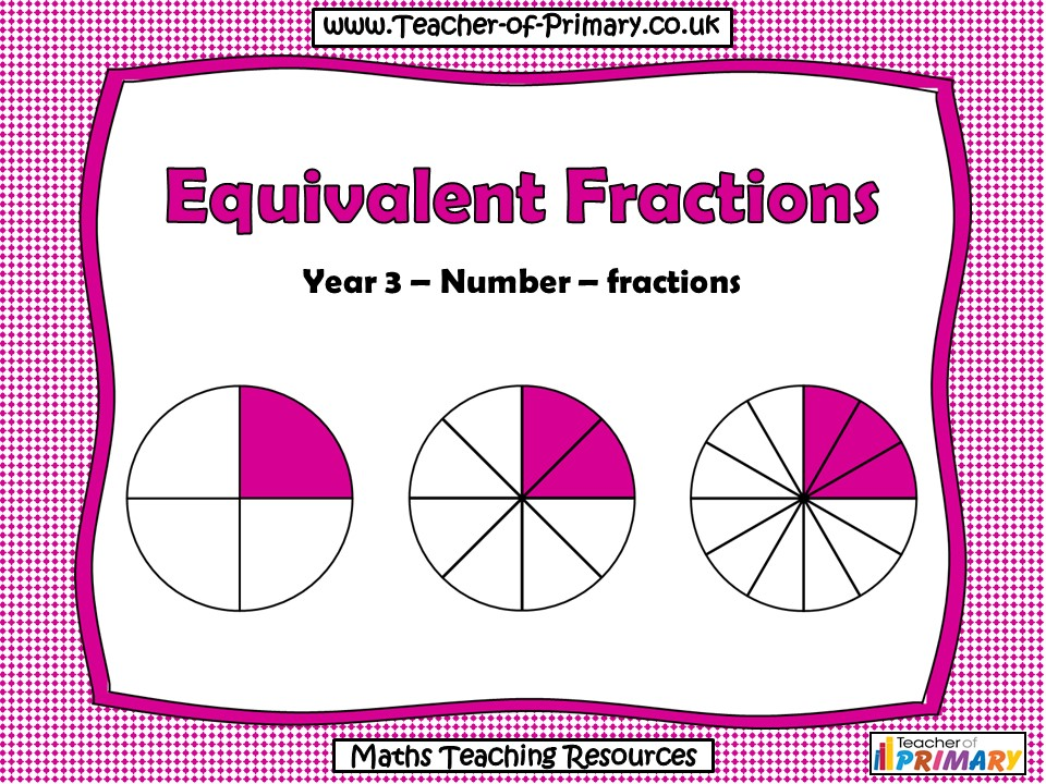 Equivalent Fractions - Year 3