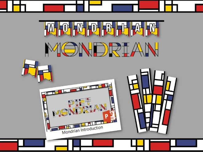 Mondrian Display set and introduction PowerPoint