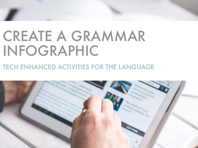 Tech Enhanced Activities - Create a Grammar Infographic