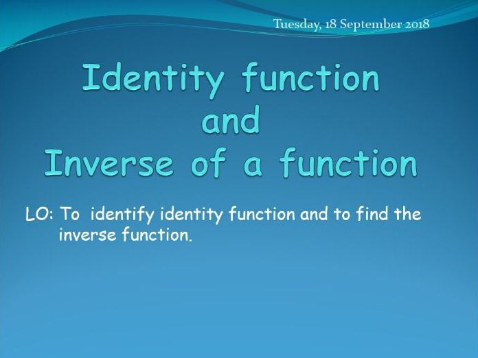 Identity function and inverse functions