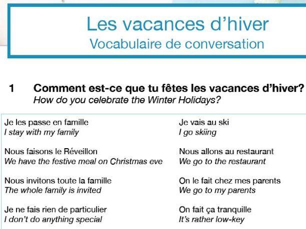 Confident Conversations Mini Pack: Les vacances d'hiver