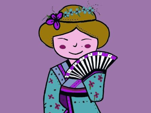Mindfulness colouring: Kokeshi dolls