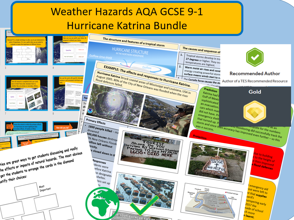 The Full Katrina - Weather Hazards-Tropical Storms. Bundle.