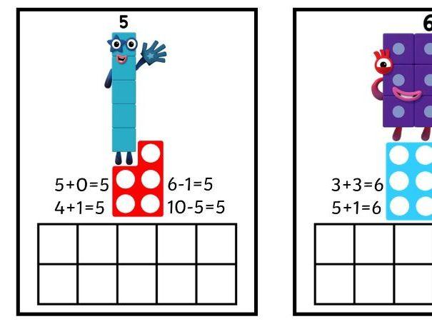 Numberblock Maths activity