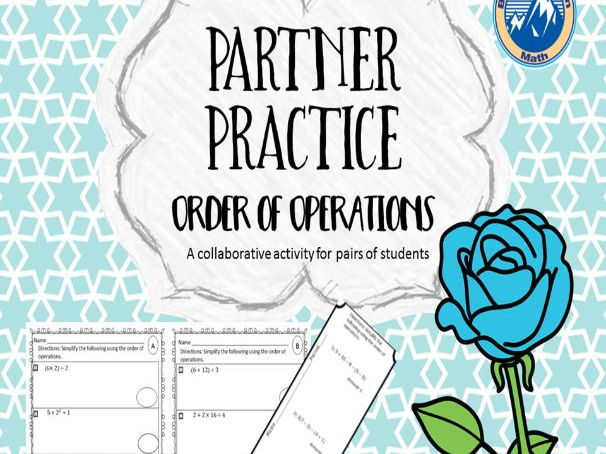 Partner Practice Order of Operations