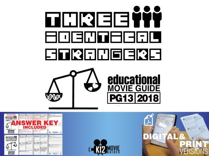 Three Identical Strangers Documentary Movie Guide | Worksheet (PG13 - 2018)