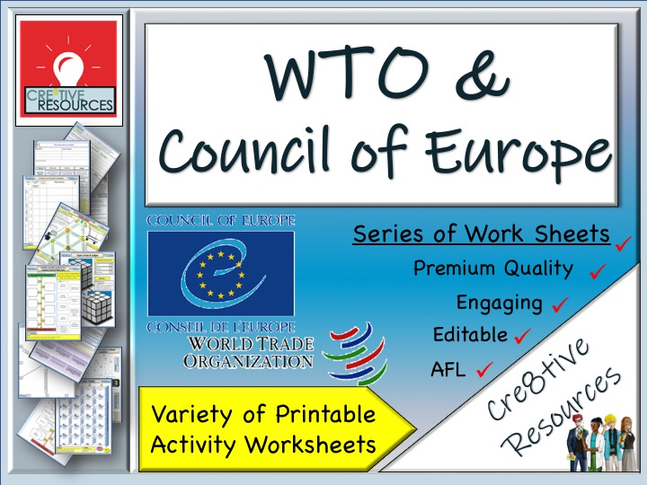 WTO and Council of Europe