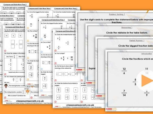 Year 5 Compare and Order More Than 1 Spring Block 2 Step 6 Lesson Pack