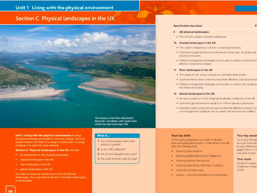 Coastal Landscapes in the UK GCSE Geography AQA (coasts)
