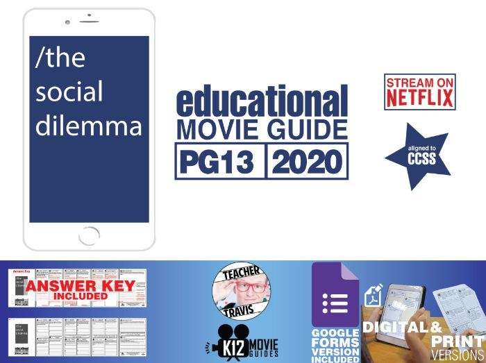 The Social Dilemma Documentary Movie Guide | Questions | Worksheet | Google Forms (PG13 - 2020)