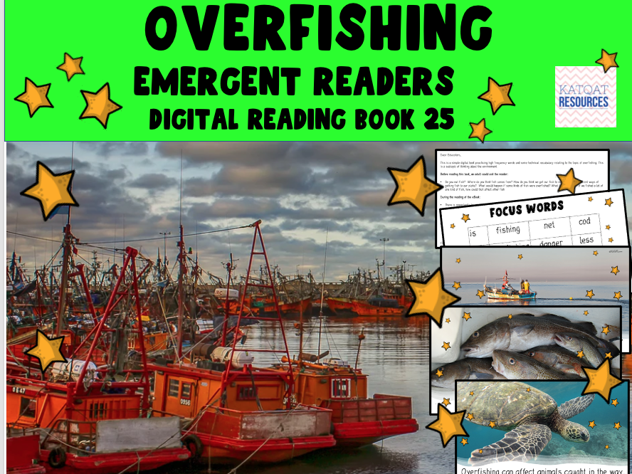 Overfishing - Emergent Reader - PowerPoint™ ebook - Book 25