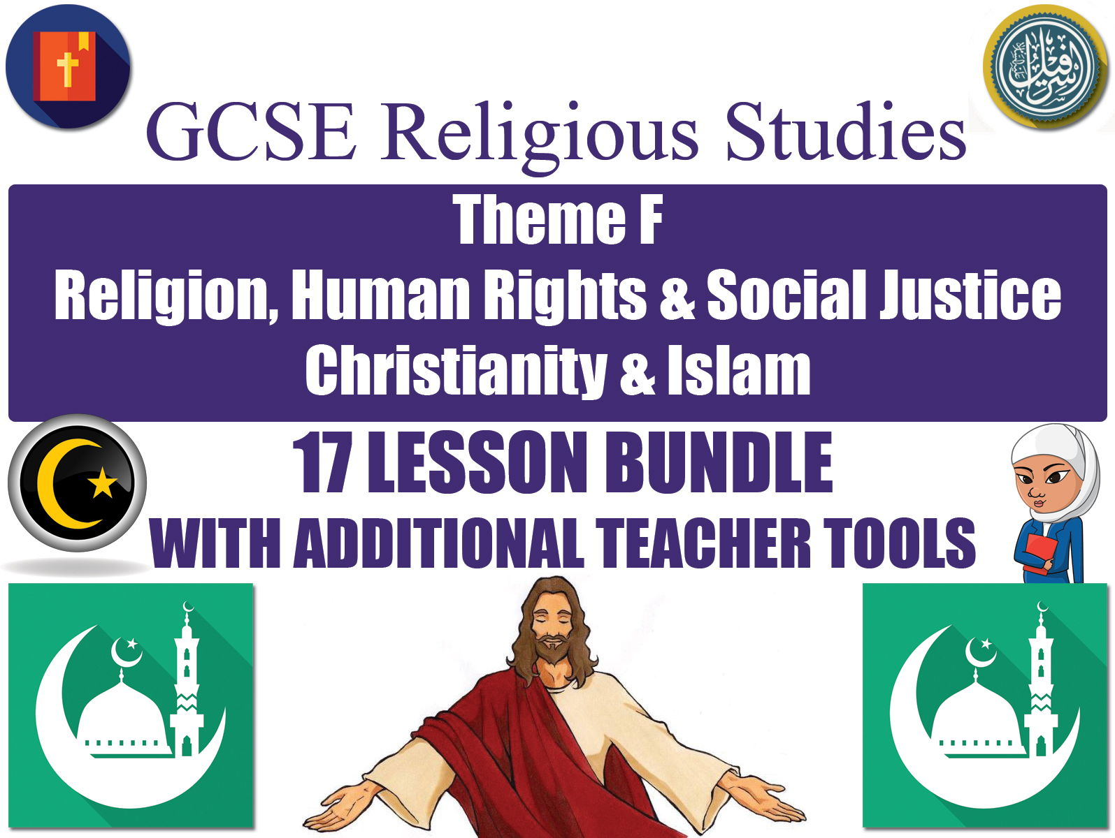 GCSE Islam & Christianity - Religion, Human Rights & Social Justice (17 Lessons)