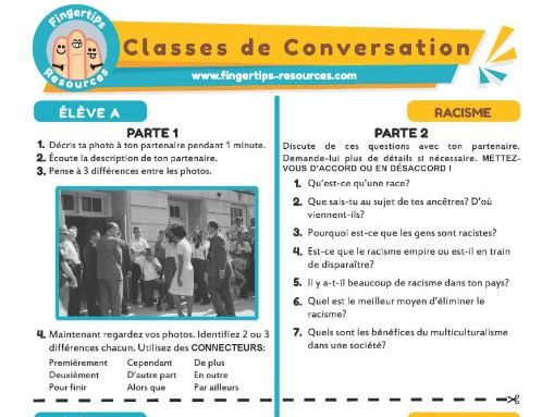Le racisme - French Conversation Activity