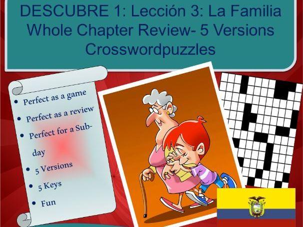 La Familia - A1 - A2  Crossword puzzles