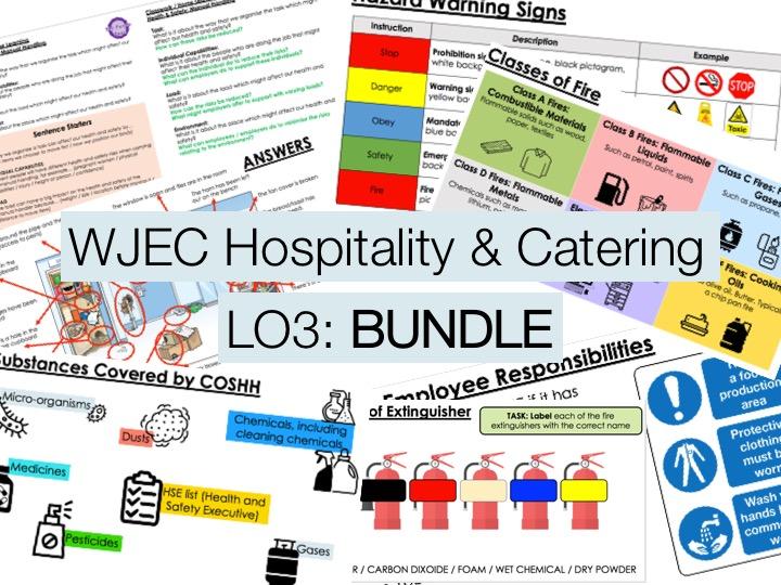 KS4 WJEC Hospitality Unit 01 LO3 - FULL BUNDLE